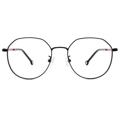 K-DESIGN KREATE 輕彈個性多邊框眼鏡 🎨 黑/荳蔻紫
