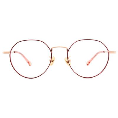 K-DESIGN KREATE 古典花園波士頓框眼鏡🎨 典雅紅