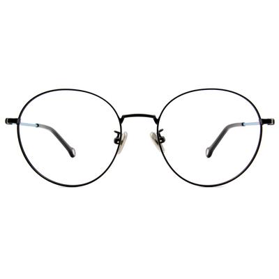K-DESIGN KREATE 青春圓舞曲拼色圓框眼鏡🎨 黑/灰霧藍