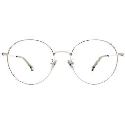 K-DESIGN KREATE 青春圓舞曲拼色圓框眼鏡🎨 銀/亞麻綠