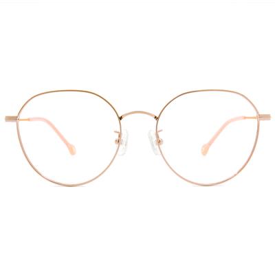 K-DESIGN KREATE l 廣告款眼鏡 l 異想世界設計圓框眼鏡🎨 金/杏桃橘