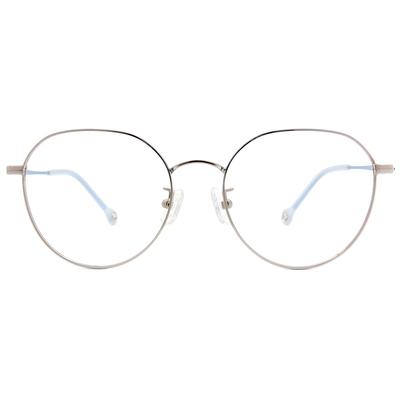 K-DESIGN KREATE l 廣告款眼鏡 l 異想世界設計圓框眼鏡🎨 銀/天空藍