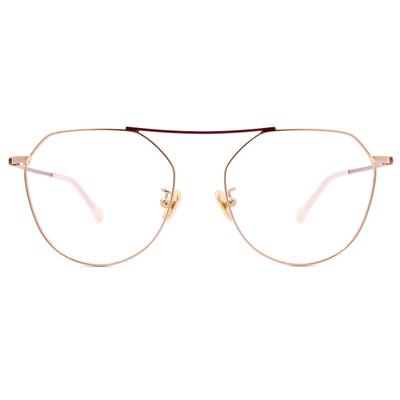 K-DESIGN KREATE 繽紛撞色系列多邊框眼鏡🎨 莓粉金