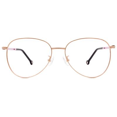 K-DESIGN KREATE 法式浪漫雷朋美型框眼鏡🎨 金/丁香紫