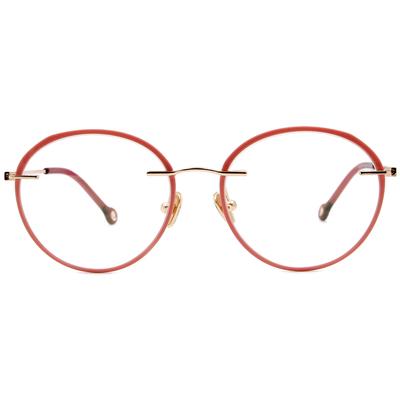 K-DESIGN KREATE 極限多彩無邊套圈框眼鏡🎨 糖霜紅/奶茶色