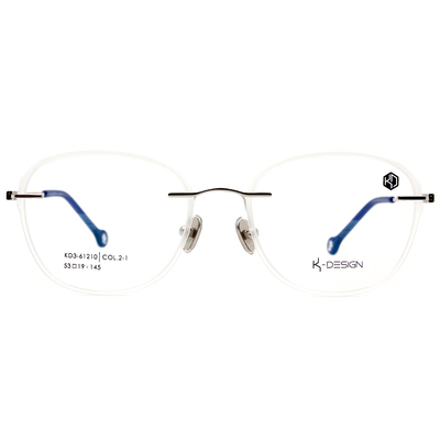K-DESIGN KREATE 玩色百搭無邊套圈框眼鏡🎨 風眼鏡格白/藍