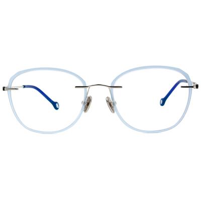 K-DESIGN KREATE l 廣告款眼鏡 l 玩色百搭無邊套圈框眼鏡🎨 光透藍/黑