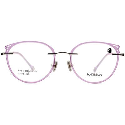 K-DESIGN KREATE 彩漾玩美無邊套圈框眼鏡🎨 棉花糖紫/白