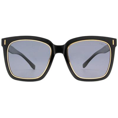 HORIEN 時尚酷炫大方框墨鏡  ☀ 鑲金黑