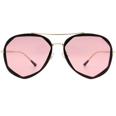 HORIEN 時光飛行多邊框墨鏡  ☀ 現代粉