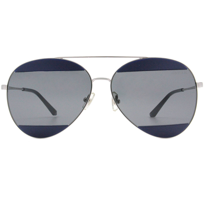 HORIEN 低調撞色飛官框墨鏡  ☀ 牛仔藍