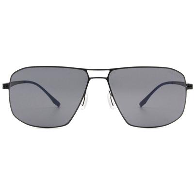 HORIEN 薄鋼前衛多邊框墨鏡  ☀ 靜謐藍