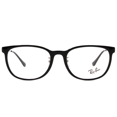Ray Ban | 經典學院風眼鏡 亮黑
