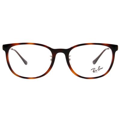 Ray Ban | 經典學院風眼鏡 玳瑁棕