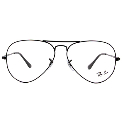 Ray Ban | 極簡飛官框眼鏡 霧面黑