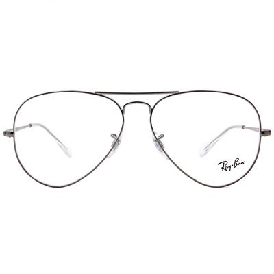 Ray Ban | 極簡飛官框眼鏡 銀色