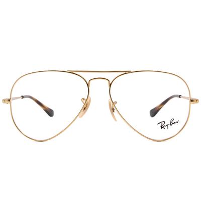Ray Ban | 極簡飛官框眼鏡 霧面金