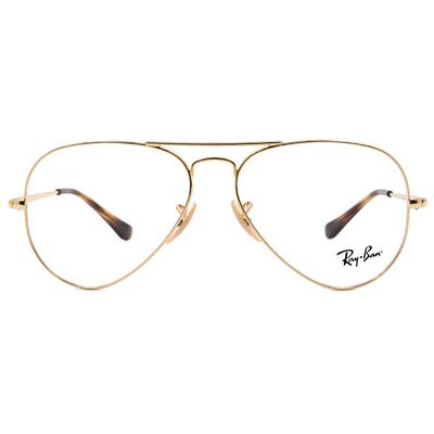 Ray Ban | 極簡飛官框眼鏡 時尚金