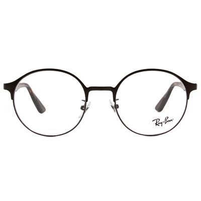 Ray Ban | 時尚圓半框眼鏡 咖啡