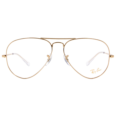 Ray Ban | 極簡飛官框眼鏡 亮面金