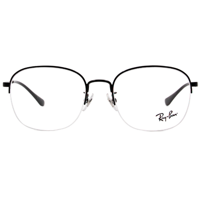 Ray Ban 雷朋│流行細版 威靈頓眉框眼鏡 炭晶黑