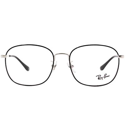 Ray Ban 雷朋│極簡雋永 威靈頓框眼鏡 紳士銀