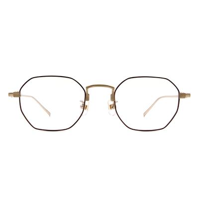 Selecta | 低奢復刻多邊框眼鏡 紅棕色