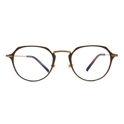Selecta | 典雅高貴波士頓框眼鏡 橡木棕