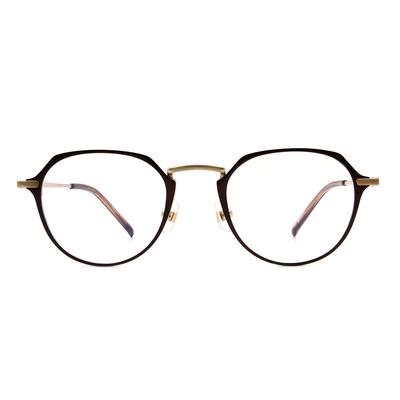 Selecta | 典雅高貴波士頓框眼鏡 可可棕