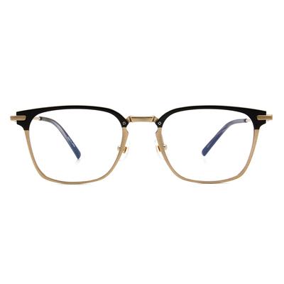 Selecta | 低奢多變拼色款眼鏡 亮黑金