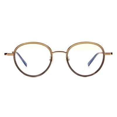 Selecta | 高貴淡雅波士頓框眼鏡 透金棕