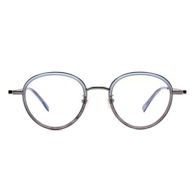 Selecta | 高貴淡雅波士頓框眼鏡 晶透藍