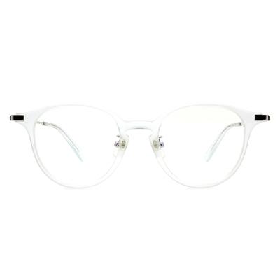 Selecta | 低奢復刻波士頓框眼鏡 透亮銀