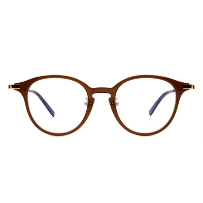Selecta | 低奢復刻波士頓框眼鏡 蜜茶棕
