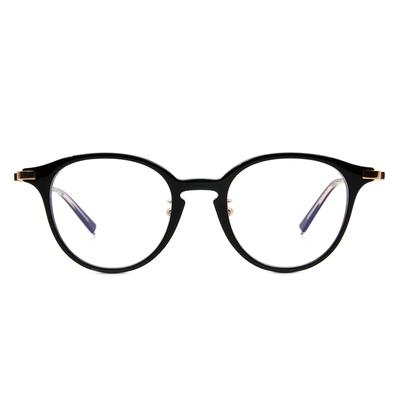 Selecta | 低奢復刻波士頓框眼鏡 晶亮黑