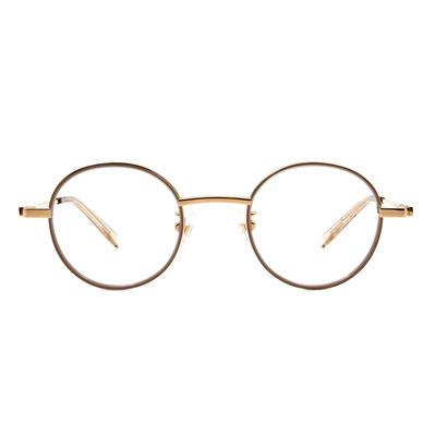Selecta | 英倫風眼鏡復刻圓框眼鏡 奶茶杏