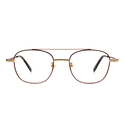 Selecta   低奢潮流飛官框眼鏡 紅棕色