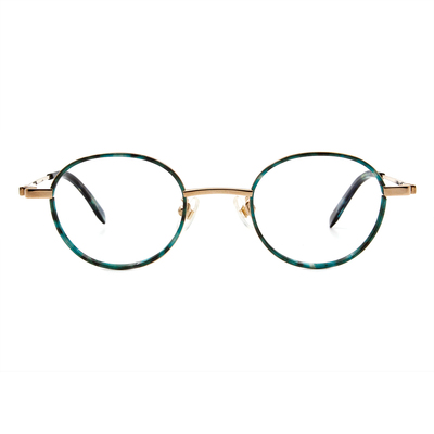 Selecta   英倫風眼鏡復刻橢圓框眼鏡 神秘藍