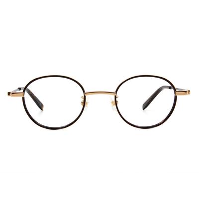 Selecta | 英倫風眼鏡復刻橢圓框眼鏡 玳瑁棕