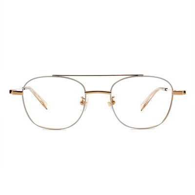 Selecta   低奢潮流飛官框眼鏡 鋼琴白