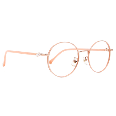 SOU・SOU l 山茶花 圓框眼鏡✿金粉橘