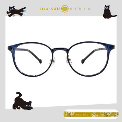 SOU・SOU l 典雅南天 波士頓框眼鏡✿孔雀藍