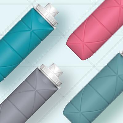 DIAMOND BOTTLE 時尚可折疊隨身攜帶瓶(4色)
