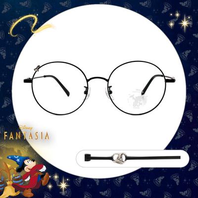 Disney🌟Fantasia l 魔法小手 圓框眼鏡 霧面黑