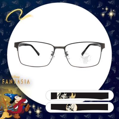 Disney🌟Fantasia l chernabog world 長方眉框眼鏡 質感銀