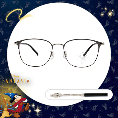 Disney🌟Fantasia l 魔法杖 眉框眼鏡 鐵銀灰