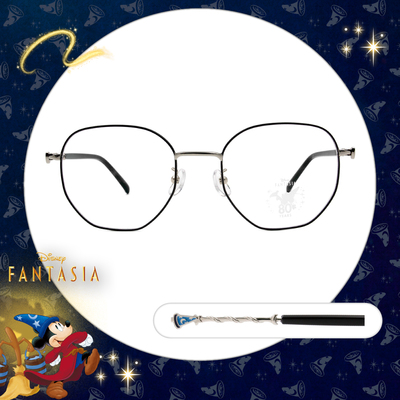 Disney🌟Fantasia l 魔法杖 多邊框眼鏡 鐵灰色