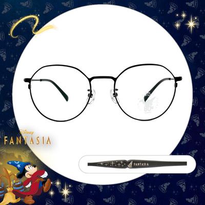 Disney🌟Fantasia l 夜空魔法帽 圓框眼鏡 星空黑