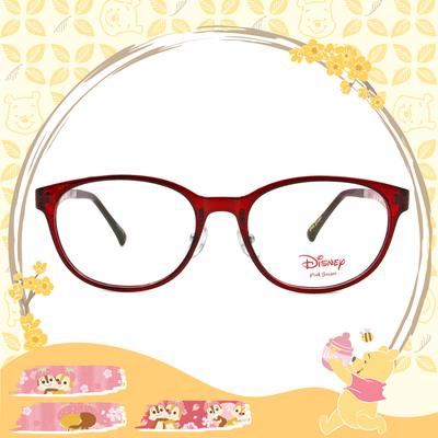 Disney-粉萌季 l 奇奇蒂蒂黏踢踢 橢圓框眼鏡 薔薇紅