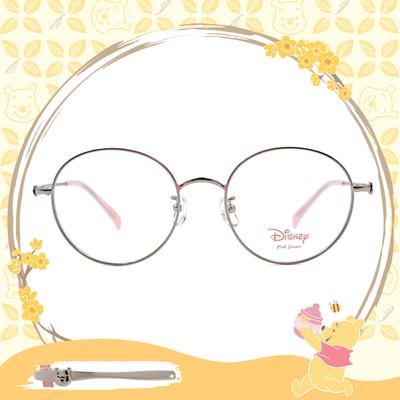 Disney-粉萌季 l 維尼的蜂蜜罐 圓框眼鏡 嫩粉橘